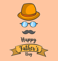 Happy father day background hand draw vector