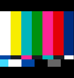 no signal tv vector image