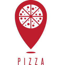 Pizza geo location concept design template vector
