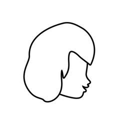 Profile woman romantic image outline vector