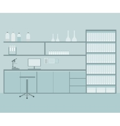 Research or testing taboratory background with vector