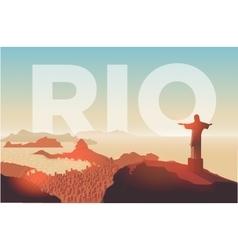 Rio de Janeiro skyline vector image vector image