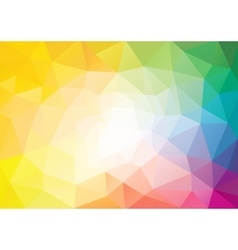 Spectrum polygon background or frame vector image vector image