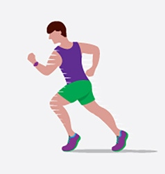 Speedy male runner vector