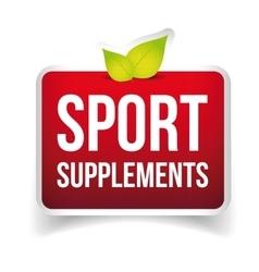 Sport supplements sign vector