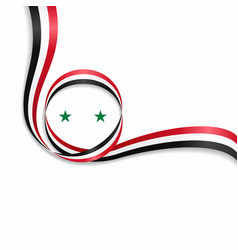 Syrian wavy flag background vector