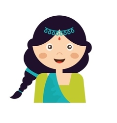 The face an indian girl in vector