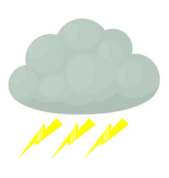 Thunderstorm icon cartoon style vector