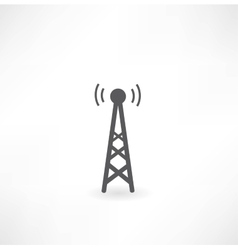 Tower with radio waves icon vector