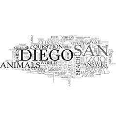 What s hot in san diego text word cloud concept vector