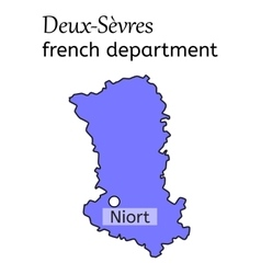 Deux-sevres french department map vector