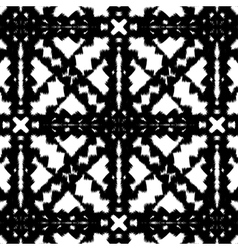 Seamless hand drawn pattern with black stripes vector image