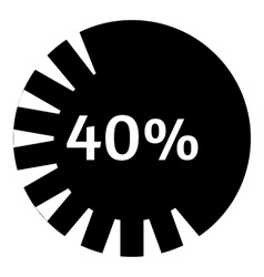 Forty percent download icon simple style vector