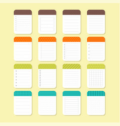 Template notepad design sheets of paper vector