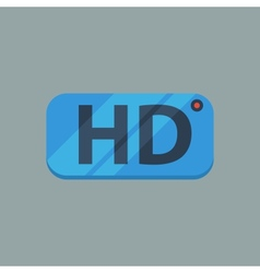 Hd flat icon vector