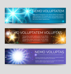 Abstract colorful banners with multicolor flashes vector