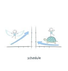 Schedule vector image