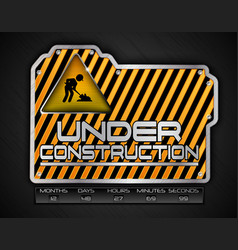 Under construction board with work in progress sig vector