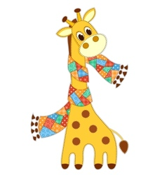 Giraffein in a scarf isolated vector