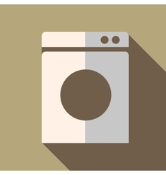 Modern flat design concept icon washing machine vector