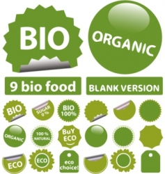 bio stickers vector image