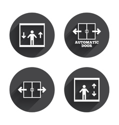 Automatic door icons elevator symbols vector