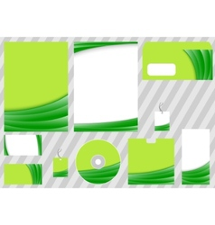 Green business corporate template vector
