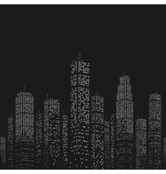 City skyscraper pattern vector