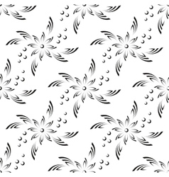 Abstract flower seamless vector
