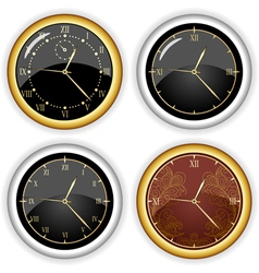 Set of clock designs vector