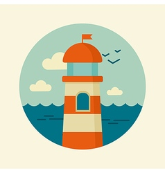 Lighthouse icon marine sea vector