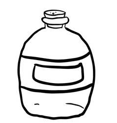 Black and white empty bottle vector