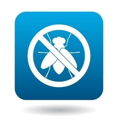 No fly sign icon simple style vector