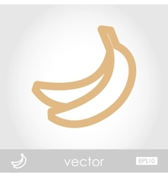 Banana icon vector image