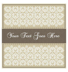 Beige invitation card vector image vector image