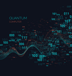 Calculation quantum computer analysis and data vector