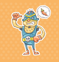 cartoon mexican wrestler vector image vector image