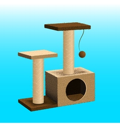 Cat tree cat furniture vector