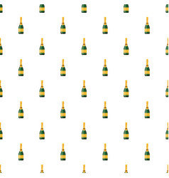 champagne bottle pattern vector image