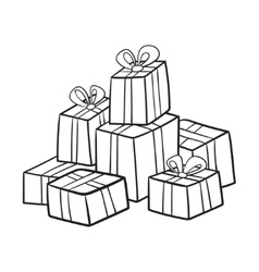 Christmas or birthday presents collection vector
