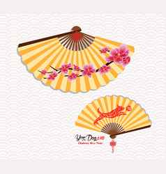 classic chinese new year blossom and oriental vector image vector image