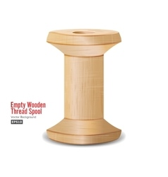 Empty wooden thread spool classic old bobbin vector