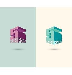 Figure 5 logo 3D figure five Icon Concept design vector image vector image