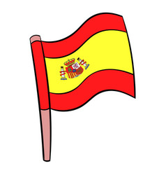 flag of spain icon cartoon vector image