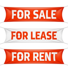 Fore sale for lease and for rent banners vector