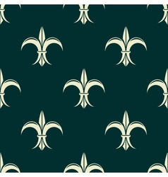 French seamless pattern with fleur de lys flowers vector image