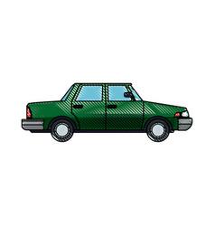 Green sedan car vehicle transport image vector