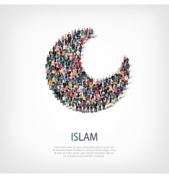 Islam people sign 3d vector