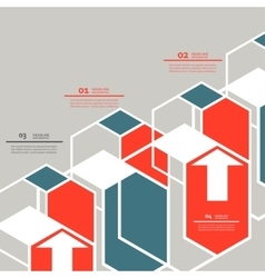 Line hexagon infographic template for vector