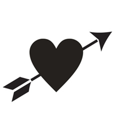 Love Heart Arrow vector image